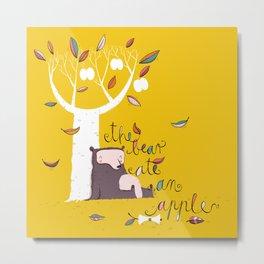 The bear ate an apple Metal Print
