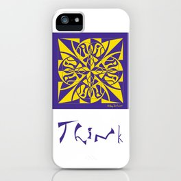 Think - Purple Yellow iPhone Case