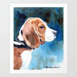 Bonny Beagle Art Print