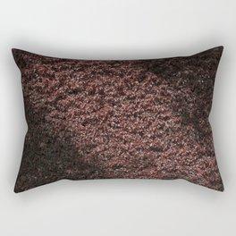 Autumn's red hedge Rectangular Pillow