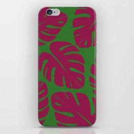 Monstera Leaf Print 4 iPhone Skin