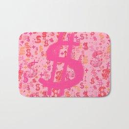 Pink Dollar Signs Bath Mat