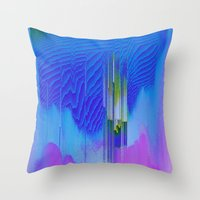 waterfall Throw Pillows featuring Waterfall by DuckyB