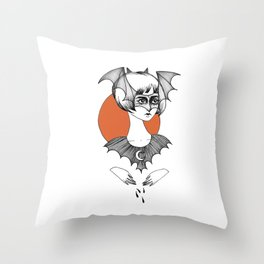 batty witch Throw Pillow