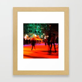 Winter Fun with Ice Skaters Framed Art Print