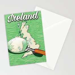 Ireland vintage Style travel poster Stationery Cards