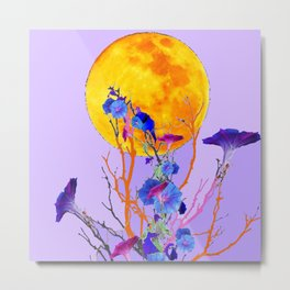 SURREAL LILAC MORNING GLORY FULL MOON Metal Print