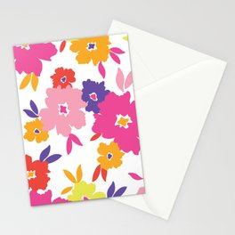 Large Colorful Florals Stationery Cards
