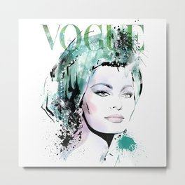Vogue Fashion Illustration #9 Metal Print