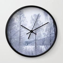 Norwegian Winter Wall Clock