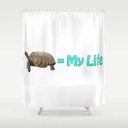 My Sulcata = My Life Shower Curtain