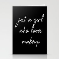 makeup Stationery Cards featuring Makeup by I Love Decor
