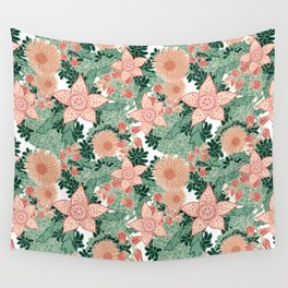 Succulents in Bloom Wall Tapestry