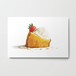 Golden Milk Cake Metal Print