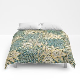William Morris Tulip and Willow Pattern Comforters