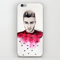 coconutwishes iPhone & iPod Skins featuring Eyes on Zayn  by Coconut Wishes