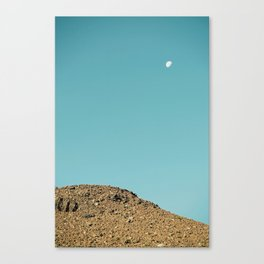 Moon at Sliding Sands Trail, Haleakalā National Park Maui Canvas Print
