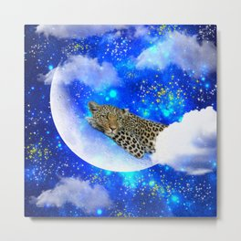 Relax in The moon Metal Print