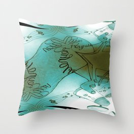 Signature music RR Throw Pillow