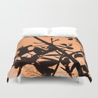 positive Duvet Covers featuring Positive by AlexinaRose