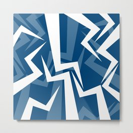 Lightning Series - Blue Metal Print