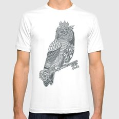 Owl King MEDIUM Mens Fitted Tee White