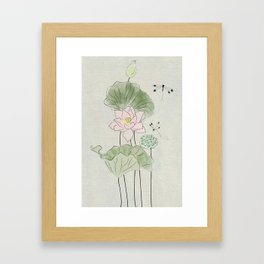 Pond of tranquility Framed Art Print