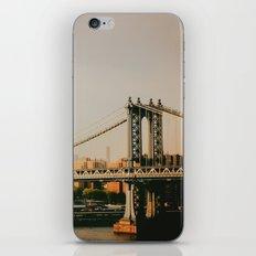 New York City Sunset and the Manhattan Bridge iPhone & iPod Skin