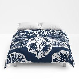 Orchid Cyanotype Comforters