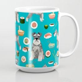 schnauzer sushi dog breed pet pattern dog mom Coffee Mug