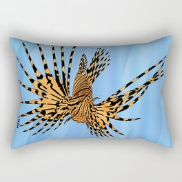 Stained Glass Lionfish Rectangular Pillow