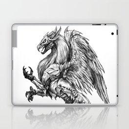 Dark Side Heraldic Griffin | Pencil Art Laptop & iPad Skin