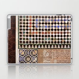 Details in The Alhambra Palace. Gold courtyard Laptop & iPad Skin