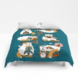 Christmas cats Comforters