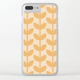 Amber Leaves Clear iPhone Case