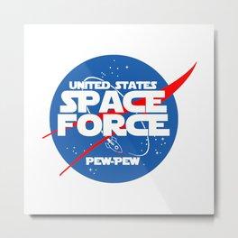 SPACE FORCE Metal Print