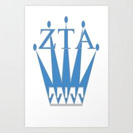 Zeta Tau Alpha, & Crown Art Print