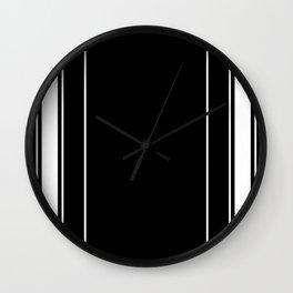 Black and white modern stripe pattern 08 Wall Clock