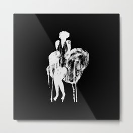 The Monroe Effect Black And White Metal Print
