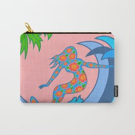 Girls Surf Too,solid color Carry-All Pouch