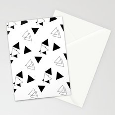 Modern Black Triangles Stationery Cards