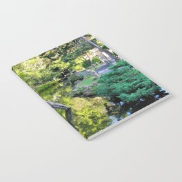 Japanese Tea Garden Lake Notebook