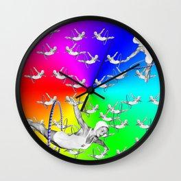 Synchronised Rainbow Hoop Divers Wall Clock