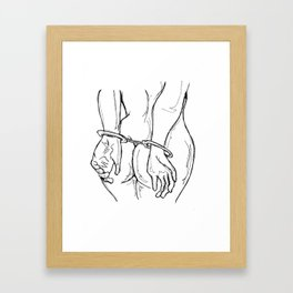 Handcuffs Framed Art Print