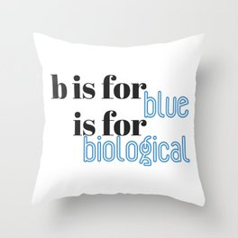 B is for Throw Pillow
