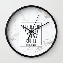 Gilmore Coffee Wall Clock