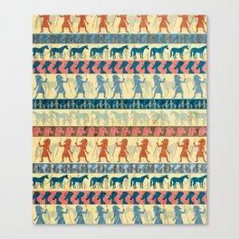 Egyptian Unicorn Pattern Canvas Print
