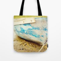 cape cod Tote Bags featuring cape cod blue by Finch & Maple