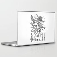 cannabis Laptop & iPad Skins featuring cannabis sativa by Oxxygene