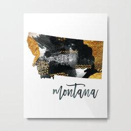 Montana USA State Art Metal Print